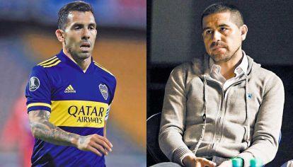 Choque de ídolos. Ni los torneos que ganó trajeron calma en Boca. Tevez, como capitán, se le plantó a Riquelme, líder del Consejo de Fútbol.