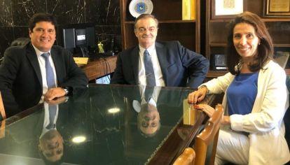 GESTIONES. En marzo de 2020, el presidente del Consejo de la Magistratura Alberto Lugones recibió a Facundo Zapiola y Cristina Giordano para tratar la puesta en funcionamiento del TOF3. Sigue pendiente.