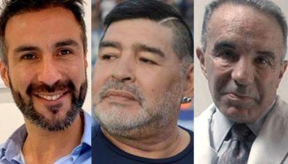 Leopoldo Luque, Diego Maradona y Alfredo Cahe