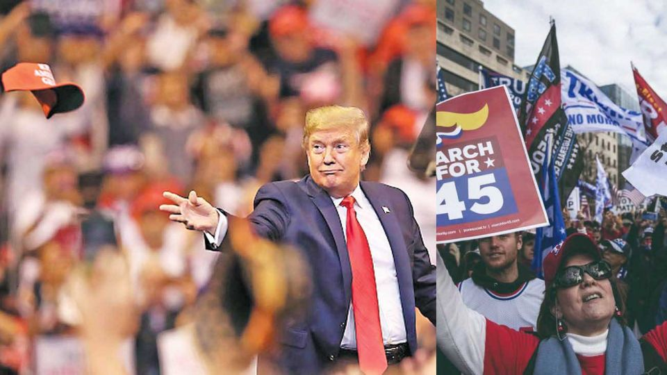 Gorrita. Sus seguidores son fanáticos y no tienen dudas acerca de lo que él diga, por más disparatado que pueda parecer. Esto plantea un duro desafío para el partido Republicano, que no sabe cómo enfrentarlo. Tal vez la justicia lo deje fuera de la carrera política.