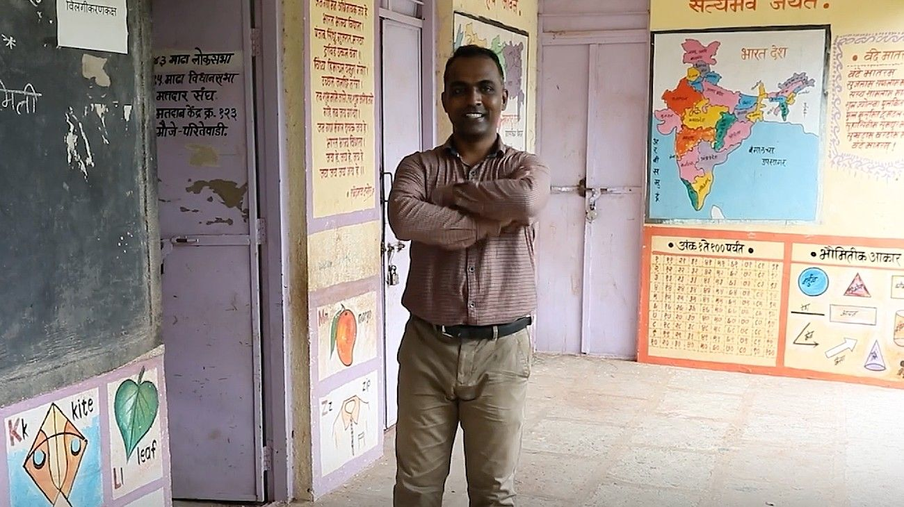 Ranjitsinh Disale, el ganador del premio al mejor docente global en 2020.