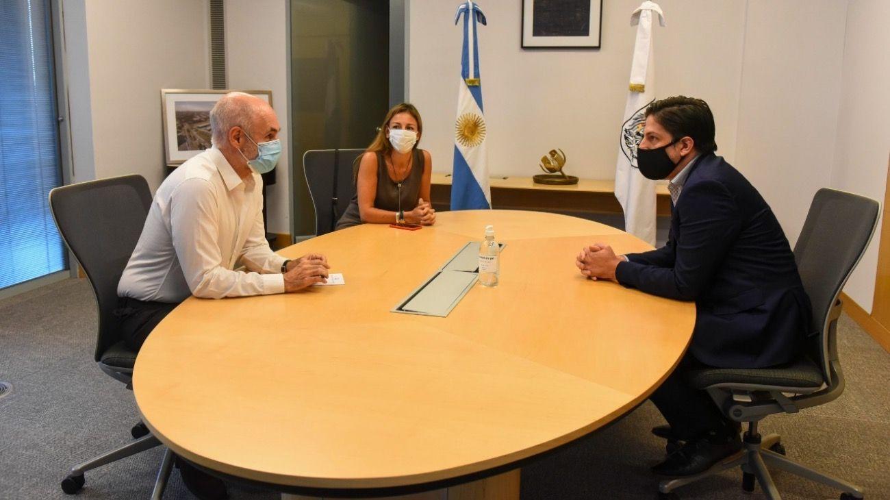 Nicolás Trotta, Horacio Rodríguez Larreta y Soledad Acuña se reunieron para definir el comienzo de clases.
