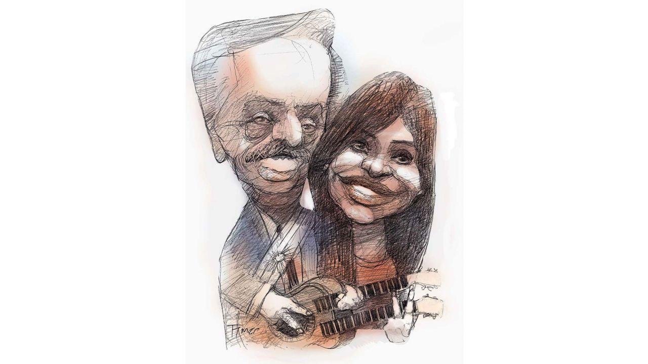 Alberto Fernández y Cristina Kirchner, guitarreando | Foto:Pablo Temes
