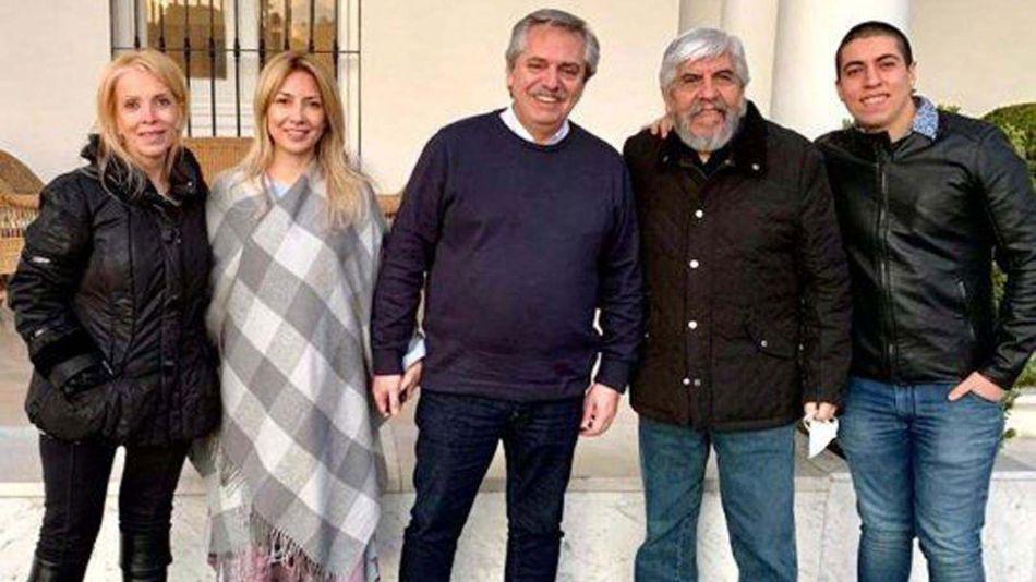 Alberto Fernández y los Moyano