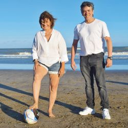 Patricia Bullrich y Maximiliano Guerra, de gira en Pinamar. | Foto:Marcelo Escayola (desde Pinamar)