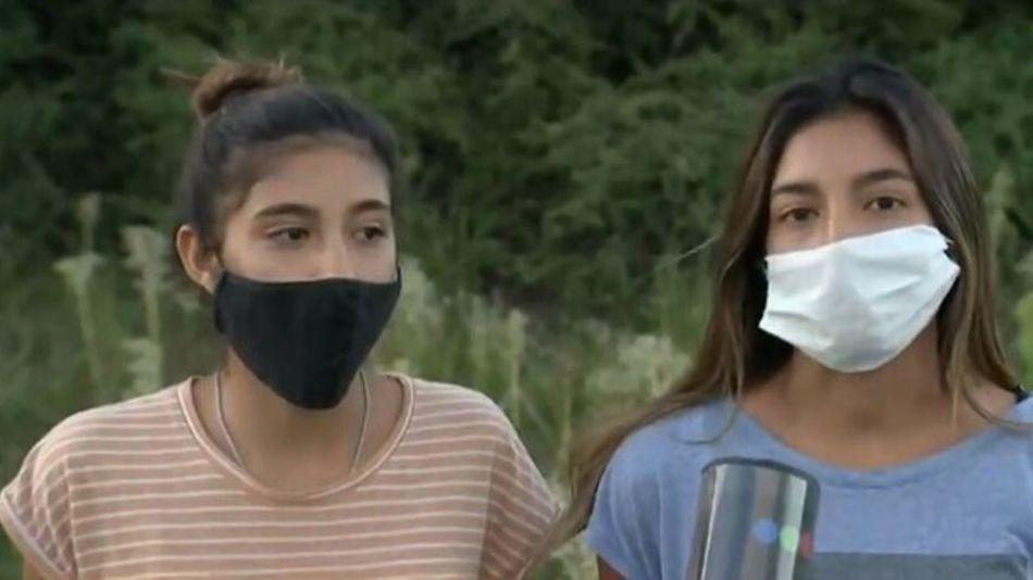 Las hermanas de Matías Ezequiel Martínez, expareja de la joven asesinada 20210210