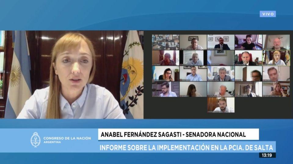 La Comisión Bicameral Parlamentaria está presidida por la senadora Anabel Fernández Sagasti (FDT)