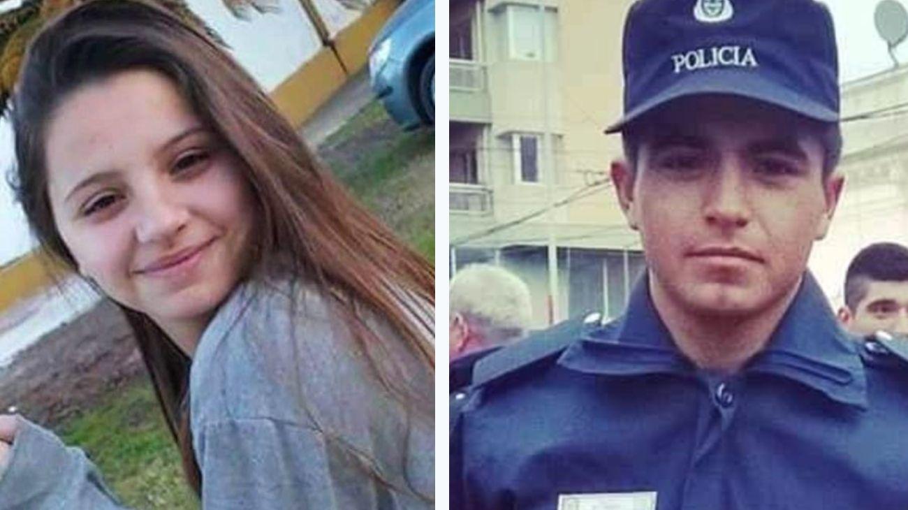 Úrsula Bahillo (18) junto a Matías Ezequiel Martínez (25).