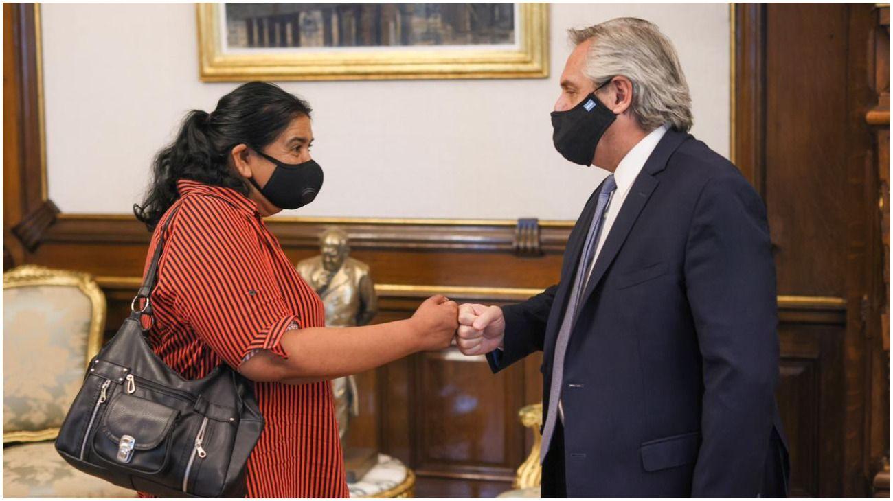 Alberto Fernández se reunió con Margarita Barrientos.