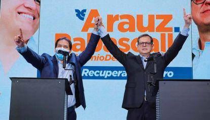 Arauz. Favorito en los sondeos entre los 16 binomios presidenciales que se presentaron en Perú para suceder a Lenín Moreno.