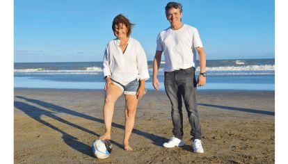 Patricia Bullrich y Maximiliano Guerra en Pinamar