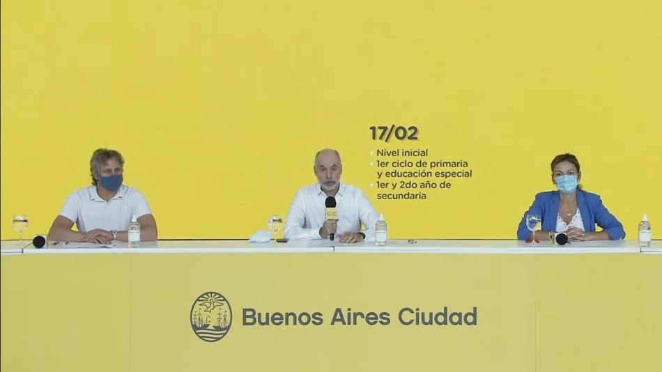 inicio de las clases presenciales en la Ciudad de forma cuidada 20210211