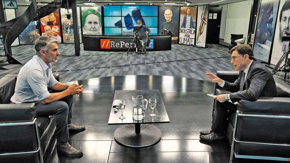 Pablo Echarri, en la entrevista con Jorge Fontevecchia.