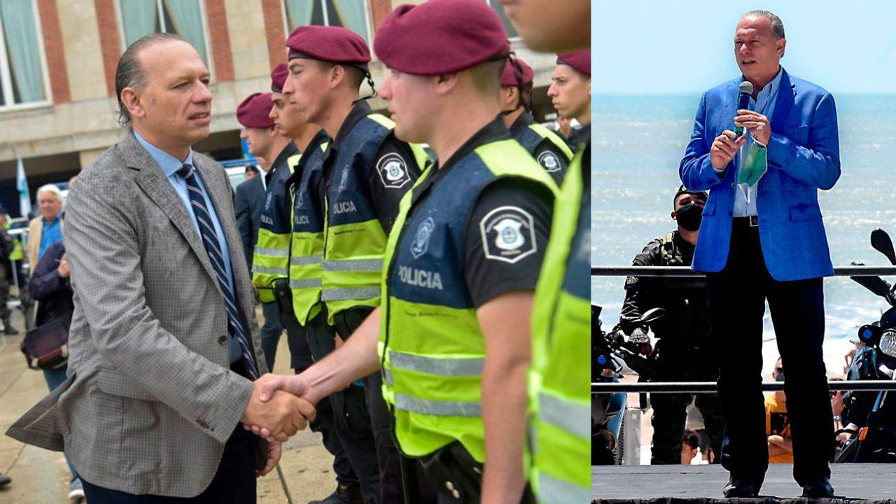 Sergio Berni y policias de la Bonaerense | Foto:cedoc