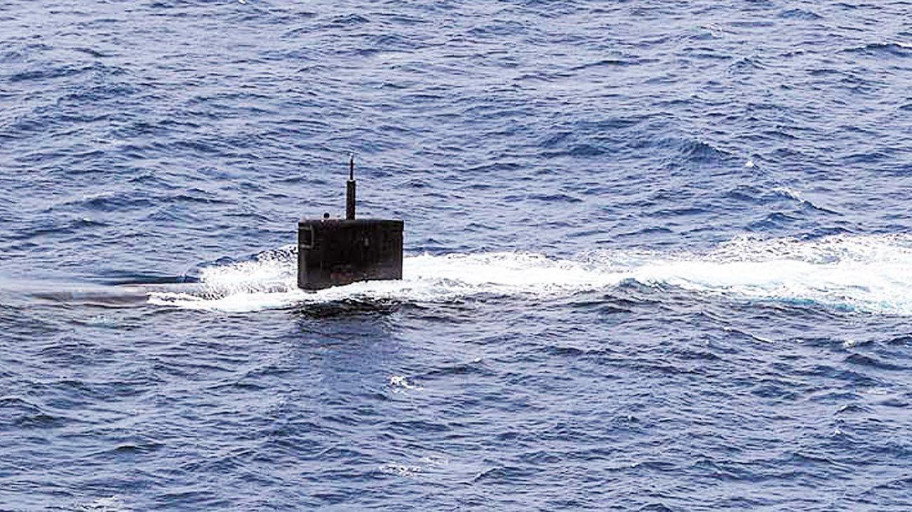 USS Greeneville. Informó en un tuit sobre sus operaciones.