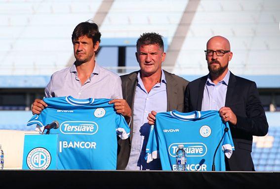 TRIDENTE. Óbolo, Artime y Orfila, quienes se estrenan respectivamente en los roles de director deportivo, presidente y DT de Belgrano.