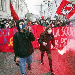 Marchas de los estudiantes italianos por el cierre de escuelas. | Foto:cedoc