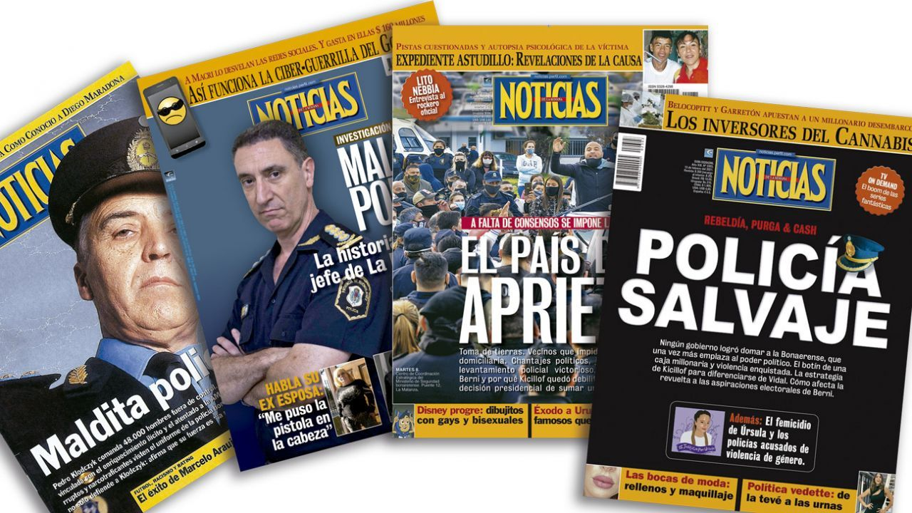 Tapas de Noticias sobre la Policía Bonaerense