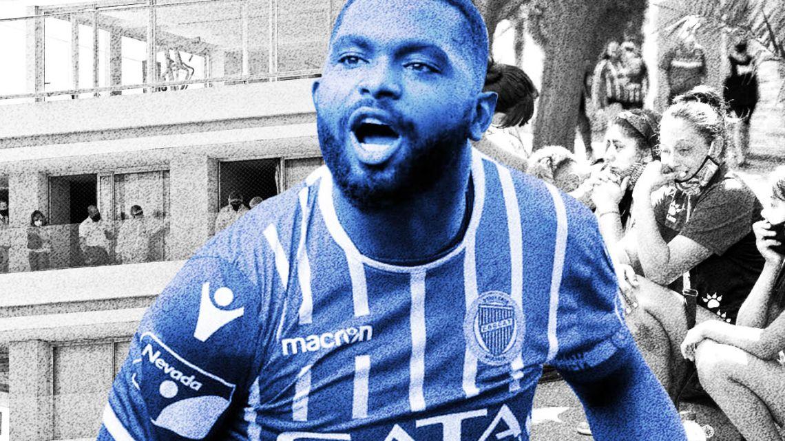 Godoy Cruz striker Santiago 'Morro' García.