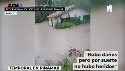 El temporal provocó destrozos e inundaciones en Pinamar