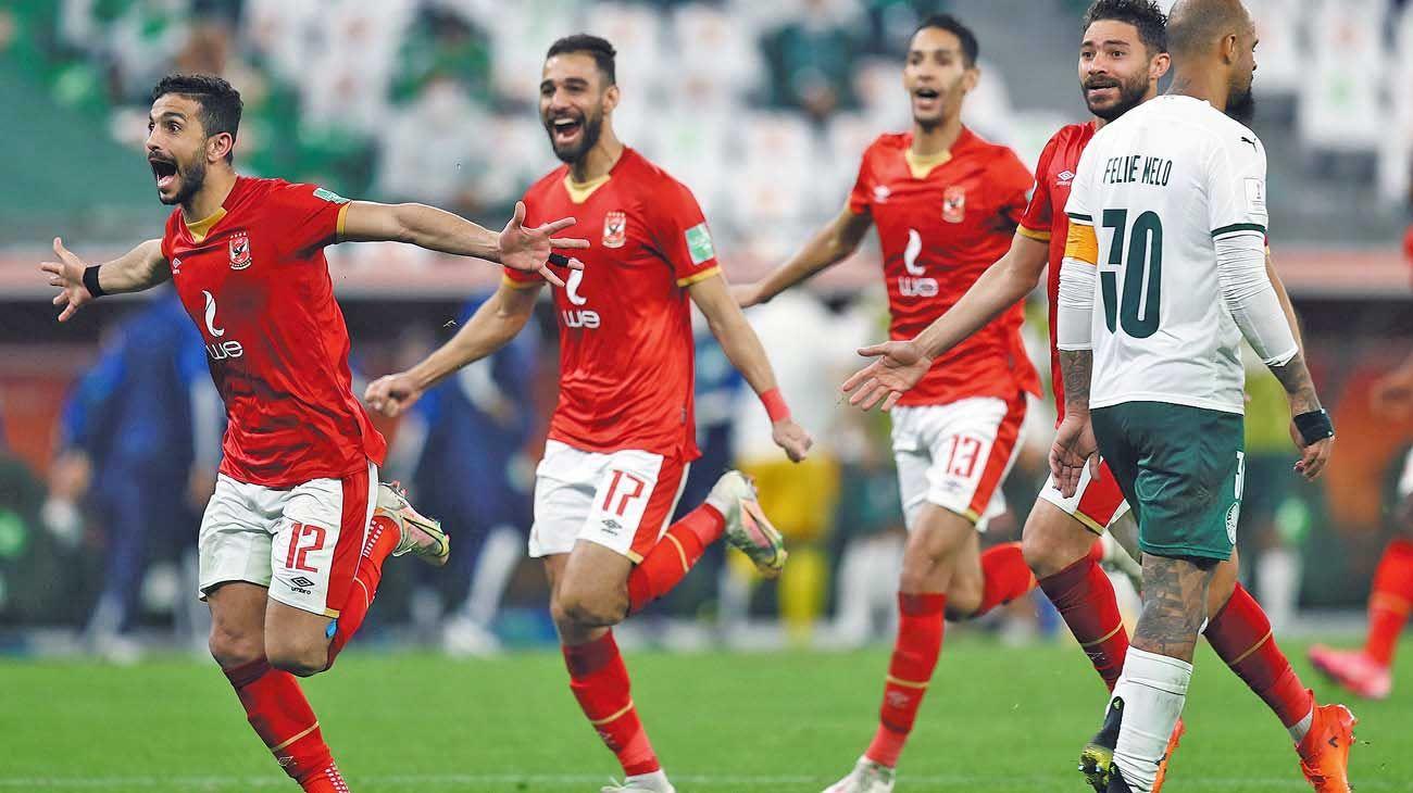 Inesperado. La alegría no es sólo brsileña: el Al Ahly, de Egipto, le ganó el Palmeiras el partido por el tercer puesto.