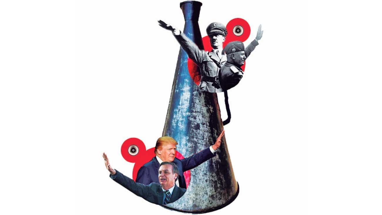 Hoy, líderes populistas de derecha, con Donald Trump a la cabeza, al igual que Hitler o Mussolini, basan su poder en cuestionar la realidad, respaldar mitos y promover el odio.