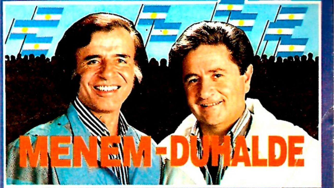 Afiche Menem - Duhalde | Foto:cedoc