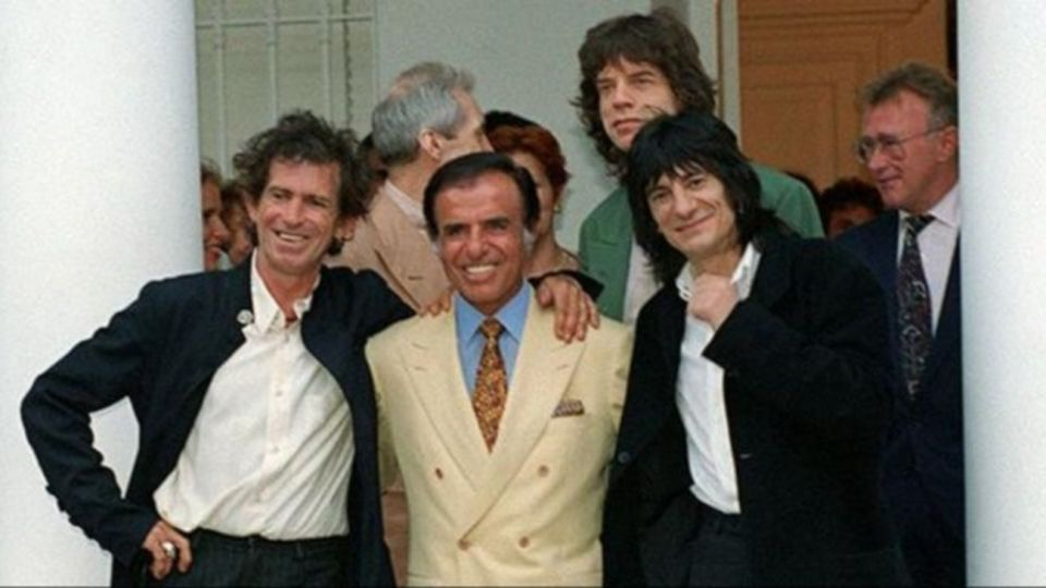 Carlos Menem y los Rolling Stones.