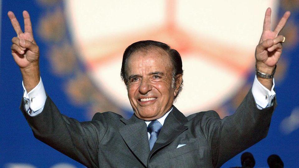 El ex presidente Menem Carlos