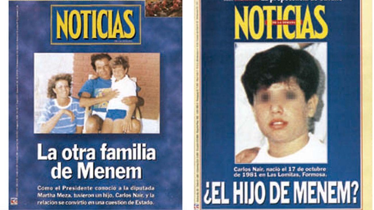 Las dos tapas por las que Carlos Menem demandó a NOTICIAS.