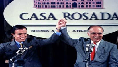 Carlos Menem y Carlos Ruckauf