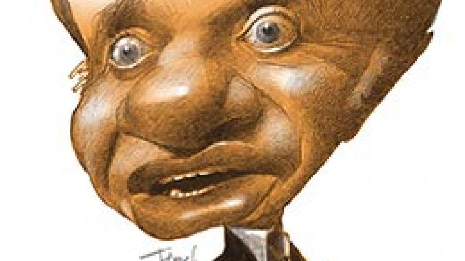 Ilustración. Caricaturas de Pablo Temes sobre Carlos Menem.