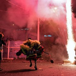 Los miembros del grupo tradicional    Foto:Carl De Souza / AFP