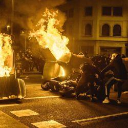 Protestas en Barcelona tras la detención de Hasél