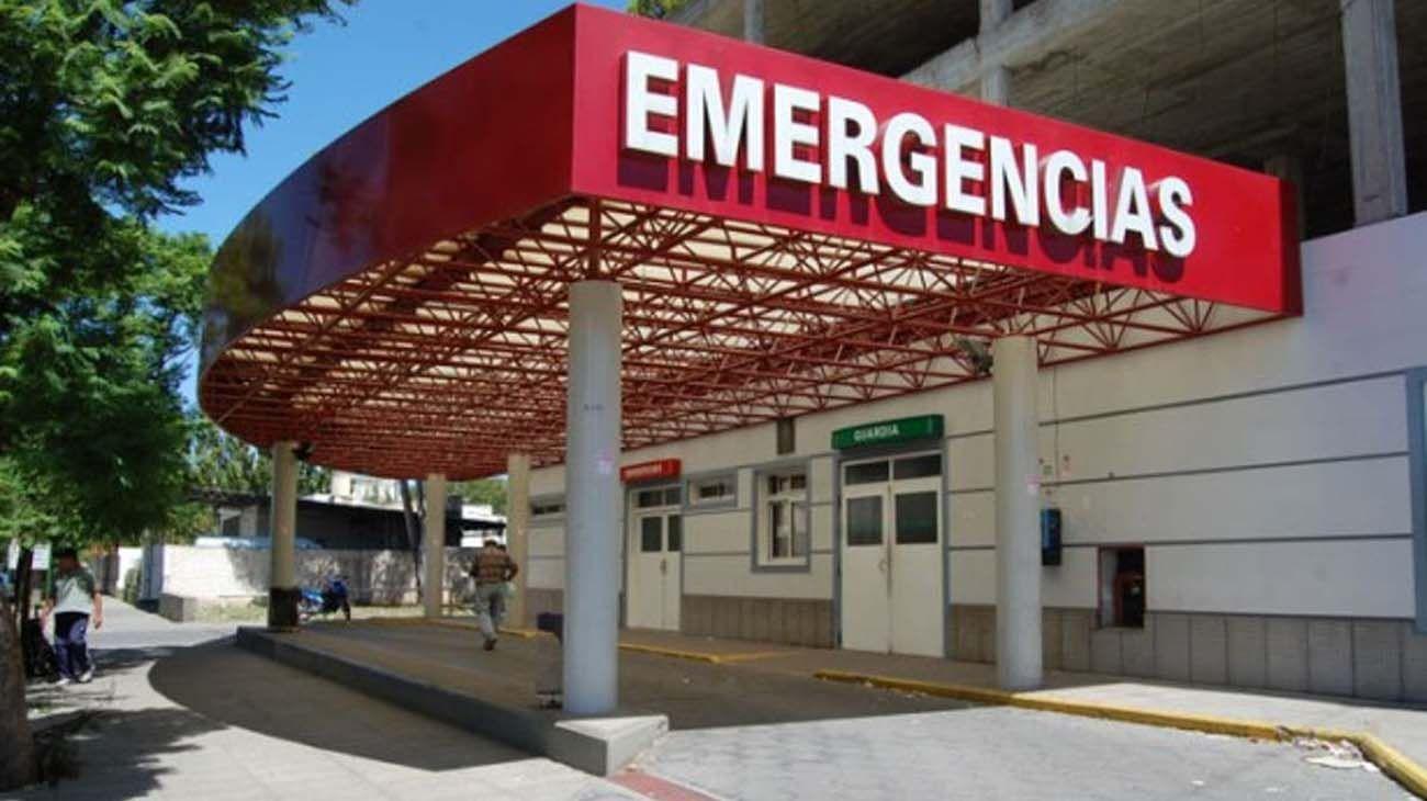 Sector de Emergencias del Hospital Municipal de Bahía Blanca.