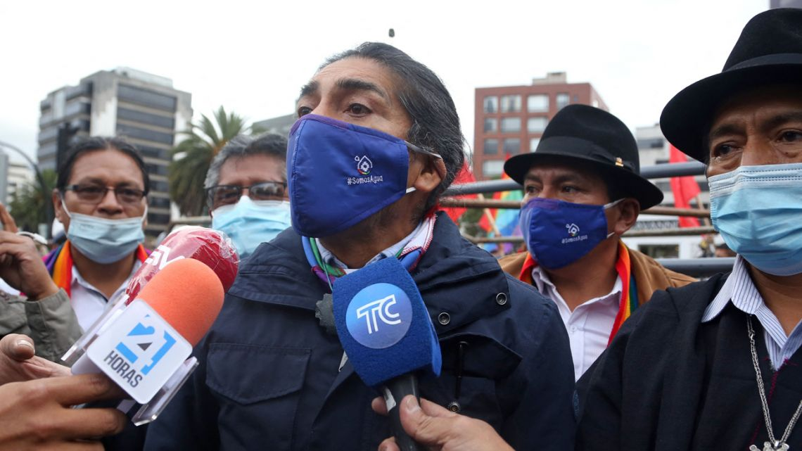 Ecuadorean presidential candidate Yaku Pérez.