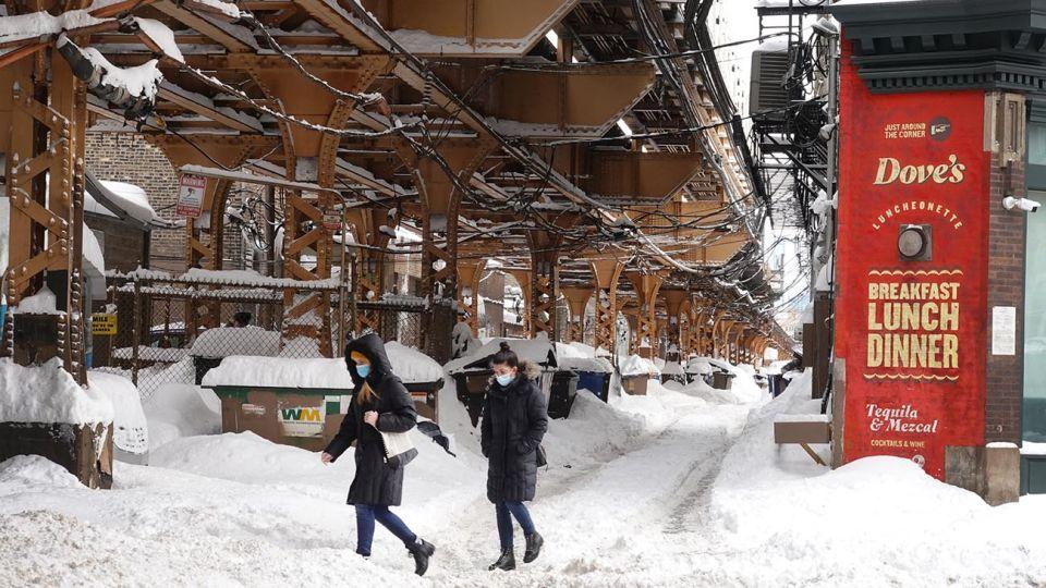 tormenta de nieve en EEUU