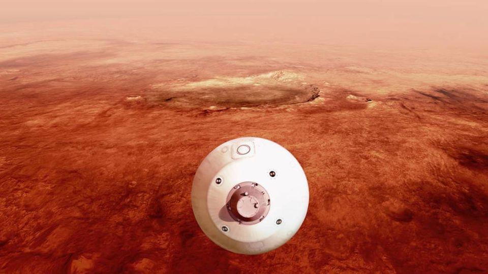 Perseverance aterriza este jueves en Marte para buscar rastros de vida.