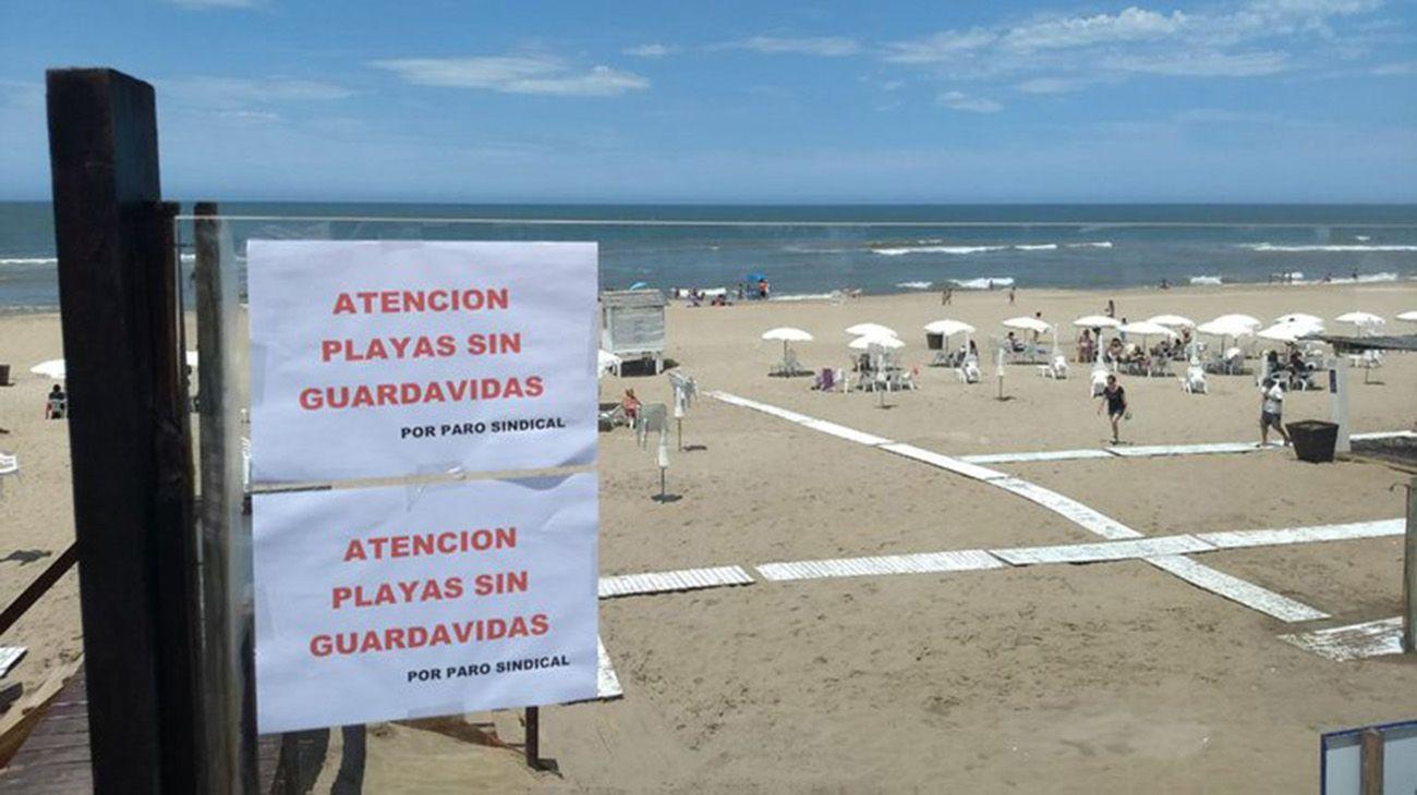 conflicto entre los guardavidas de Pinamar y los empresarios de los balnearios