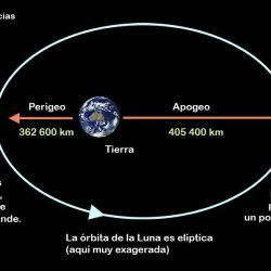 Durante el apogeo la Luna se ve mucha más pequeña.