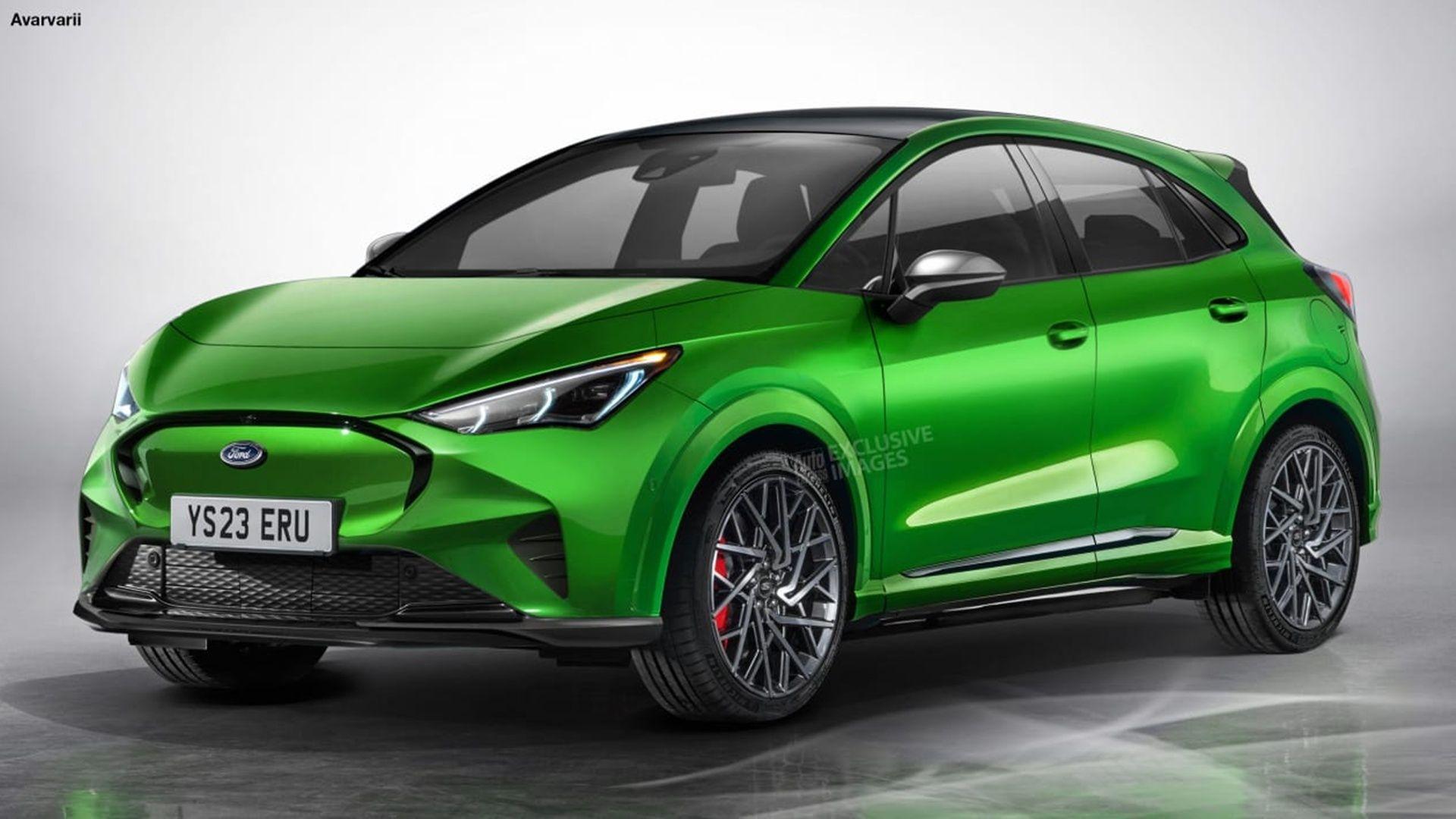 Proyección de cómo podría verse el próximo modelo eléctrico de Ford. Crédito: Auto Express.