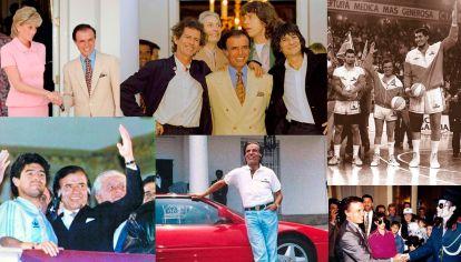 Carlos Menem con famosos y celebrities de todo el mundo