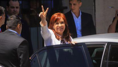 Archivo: Cristina Kirchner en Comodoro Py.