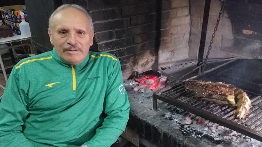 Luque, dos meses atrás, en su casa de Mendoza.