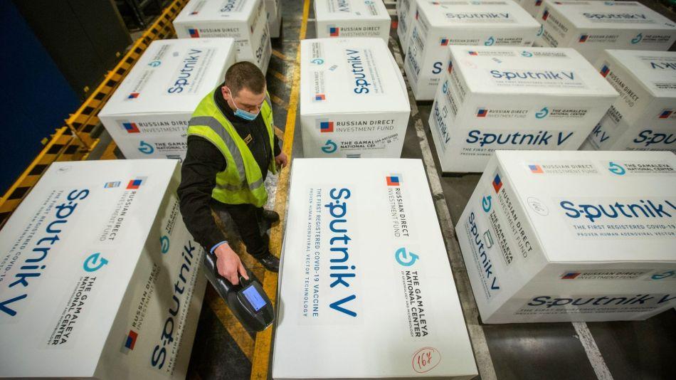 Sputnik V Storage at Sheremetyevo Airport Ahead of Export