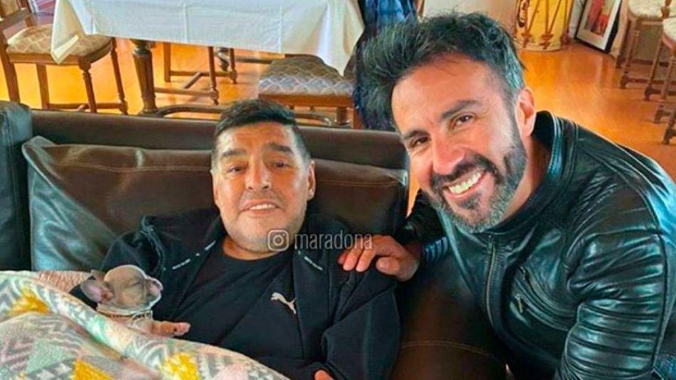 Maradona y Leopoldo Luque