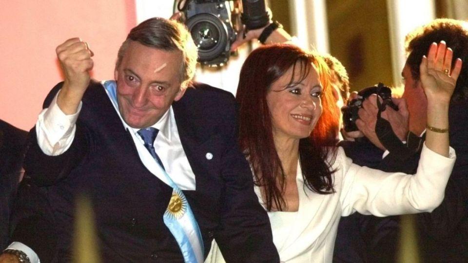 El día que asumió Néstor Kirchner como Presidente de la Nación.