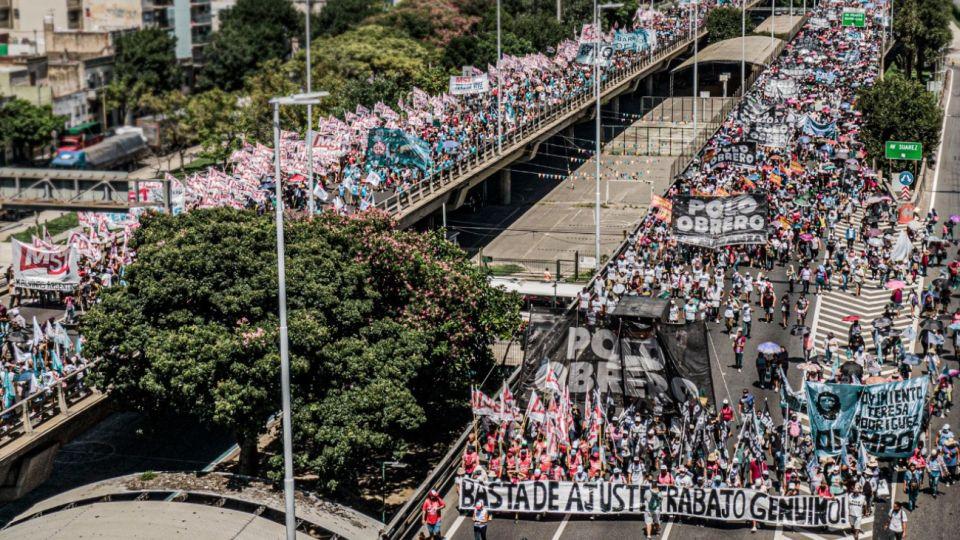 Organizaciones sociales se movilizaron hasta el Ministerio de Desarrollo Social