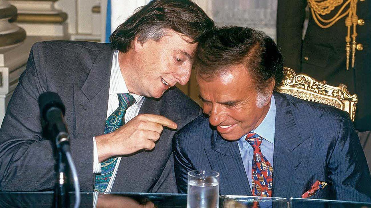 Juntos: Menem-Kirchner, presidente y gobernador.