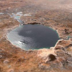 La gran similitud de relieve que tiene con el cráter de Marte, llevó a la NASA a bautizarlo con el nombre del pueblo bosnio.